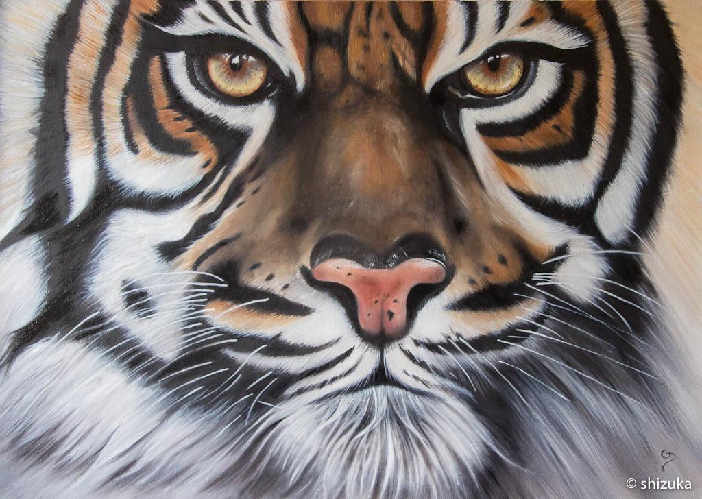 Fabuleux Tête de tigre | Galerie peinture Shizuka WK85